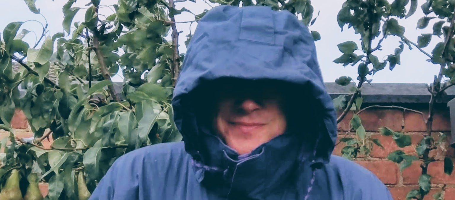 Raincoat Hood Covering Face
